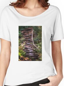 Old Wet Stone Steps Women's Relaxed Fit T-Shirt