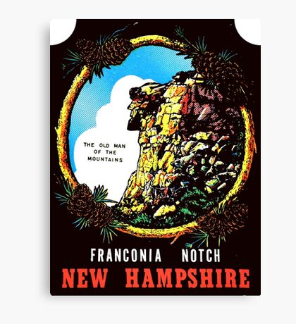 New Hampshire NH State Franconia Notch Vintage Travel Decal Canvas Print