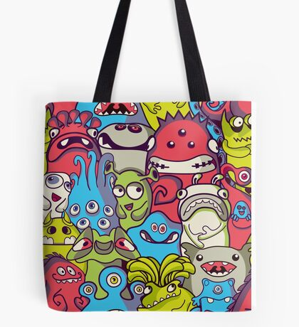 Cute aliens and monsters Tote Bag