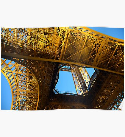 Eiffel Tower From Below 01 Poster