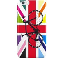 Bike Flag United Kingdom (Multi Coloured) (Big - Highlight) iPhone Case/Skin