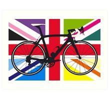 Bike Flag United Kingdom (Multi Coloured) (Big - Highlight) Art Print