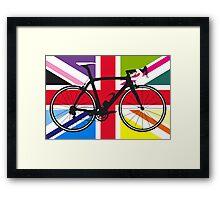 Bike Flag United Kingdom (Multi Coloured) (Big - Highlight) Framed Print
