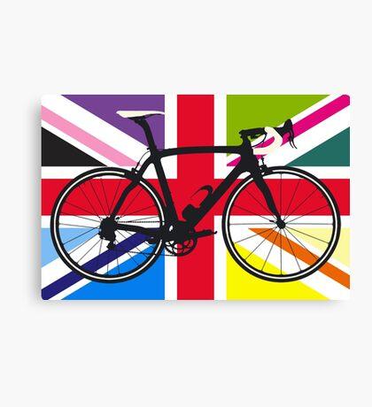Bike Flag United Kingdom (Multi Coloured) (Big - Highlight) Canvas Print