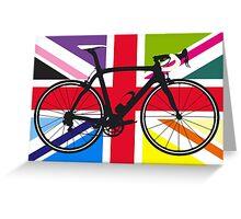 Bike Flag United Kingdom (Multi Coloured) (Big - Highlight) Greeting Card
