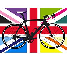 Bike Flag United Kingdom (Multi Coloured) (Big - Highlight) Photographic Print