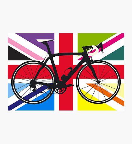 Bike Flag United Kingdom (Multi Coloured) (Big - Highlight) Photographic Print