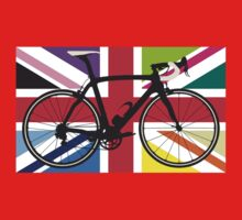 Bike Flag United Kingdom (Multi Coloured) (Big - Highlight) Baby Tee