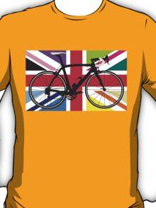 Bike Flag United Kingdom (Multi Coloured) (Big - Highlight) T-Shirt