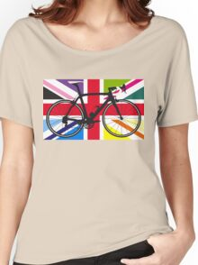 Bike Flag United Kingdom (Multi Coloured) (Big - Highlight) Women's Relaxed Fit T-Shirt
