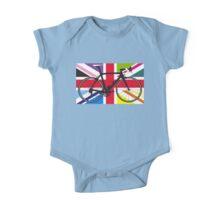 Bike Flag United Kingdom (Multi Coloured) (Big - Highlight) One Piece - Short Sleeve