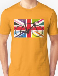 Bike Flag United Kingdom (Multi Coloured) (Big - Highlight) T-Shirt