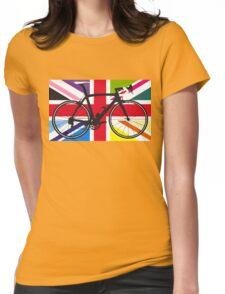 Bike Flag United Kingdom (Multi Coloured) (Big - Highlight) Womens Fitted T-Shirt
