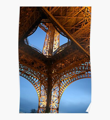 Eiffel Tower From Below 02 Poster