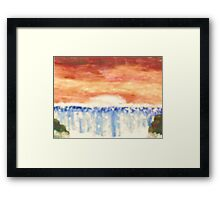 Waterfall at Sunset Framed Print