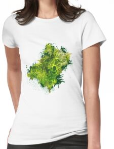 Zen Doodle 4A Green Forrest Womens Fitted T-Shirt