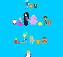 Adventure Time Pixel by KJELLBERGS