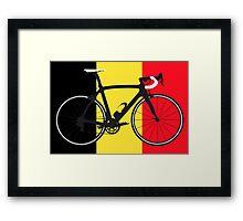 Bike Flag Belgium (Big - Highlight) Framed Print