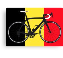 Bike Flag Belgium (Big - Highlight) Canvas Print