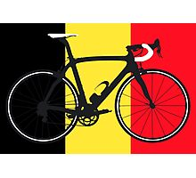 Bike Flag Belgium (Big - Highlight) Photographic Print