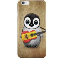 Baby Penguin Playing Spanish Flag Guitar iPhone Case/Skin