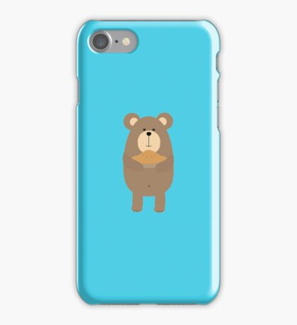 Brown Bear with pie iPhone Case/Skin