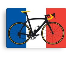 Bike Flag France (Big - Highlight) Canvas Print
