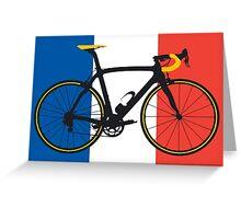 Bike Flag France (Big - Highlight) Greeting Card