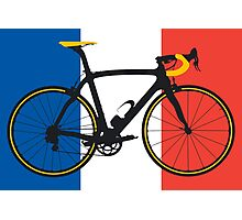 Bike Flag France (Big - Highlight) Photographic Print