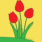 Red Tulips by MangoMoon