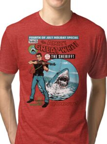 The Amity Great White Tri-blend T-Shirt