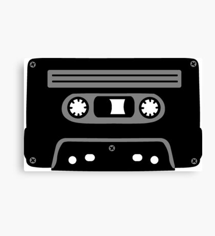 Retro Music Cassette Canvas Print