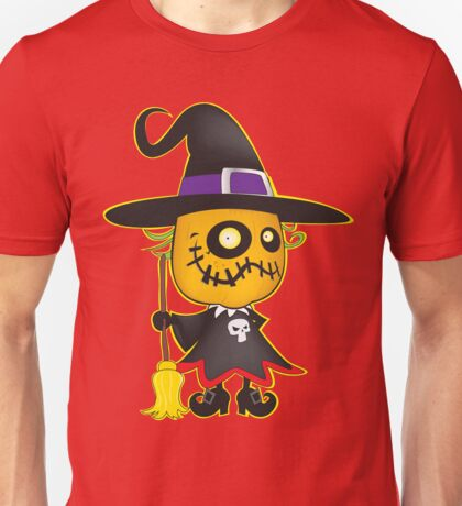 Halloween pumpkin witch Unisex T-Shirt