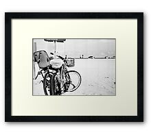 Bicycles at the Beach Framed Print