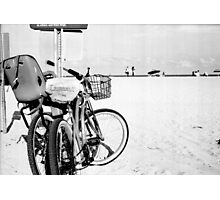 Bicycles at the Beach Photographic Print