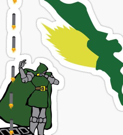 Hidden missiles Sticker