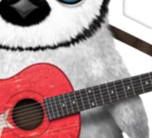 Baby Penguin Playing Turkish Flag Guitar Sticker