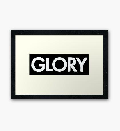 glory (white) Framed Print