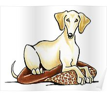 Smooth Saluki Lester Poster
