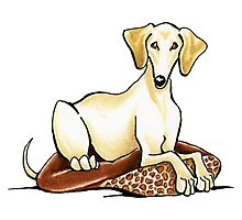 Smooth Saluki Lester Photographic Print