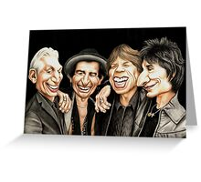 Old Rockers - Gimme Shelter t-shirt Greeting Card