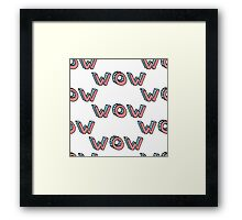 Wow word pattern Framed Print