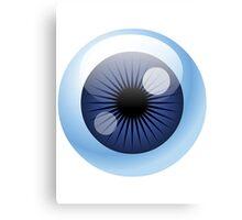Crazy Blue Eyeball Canvas Print