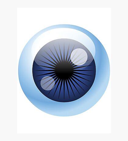 Crazy Blue Eyeball Photographic Print