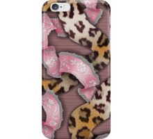Leopards'n Lace - Pink iPhone Case/Skin