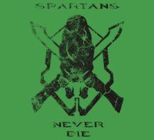 Spartans Never Die One Piece - Short Sleeve