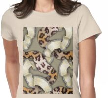 Leopards'n Lace - Yellow Womens Fitted T-Shirt