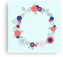Floral frame Canvas Print