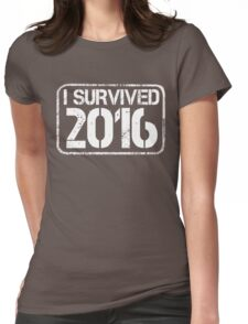 I survived 2016 Womens Fitted T-Shirt