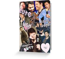 Misha Collins  Greeting Card